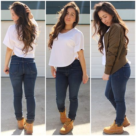 black timberland boats outfit crop tops