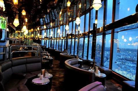 Hotel Concorde Lafayette - Bar Panoramique....this is where Mike proposed to me.  How romantic is that?  What a view!