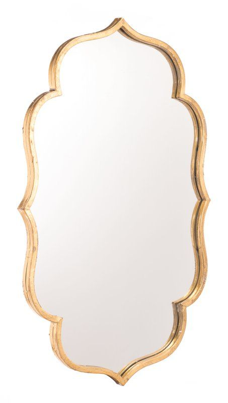 South Fork Accent Mirror 31 7h X 20w For Upstairs Bathrm Gold