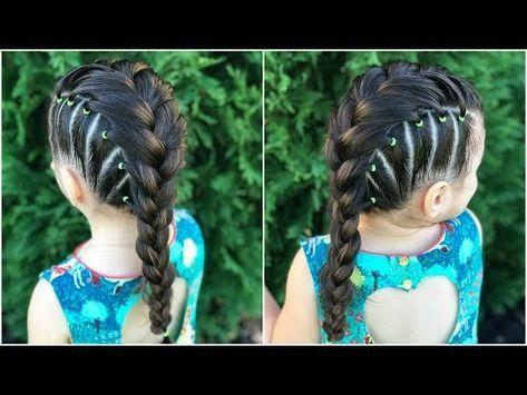 Peinado Elegante Para Niñas Con Trenza Pull Through Y Chongo