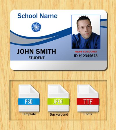 Download Id Card Template For Template For Id Card Free Download Id Card Template Card Templates Free Card Template