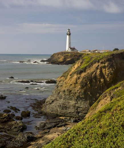 Pigeon Point Lighthouse: A spectacular stretch of California coast has been the home of the 115-foot-tall Pigeon Point Lighthouse, one of the tallest lighthouses in the United States, since 1872. The tower itself is not open to the public, but a hostel now operates on the picture-perfect grounds, offering accommodations in former Coast Guard family quarters. Guests can book either shared or private rooms.