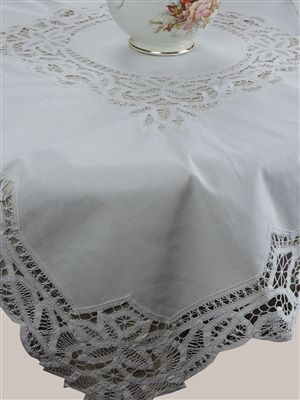 Battenberg Lace White Cotton Tablecloth Set With 4 Napkins, 100% Fine Cotton,  Hand Embroidery And Cutwork.   Battenberg / Romanian Lace   Pinterest   ...