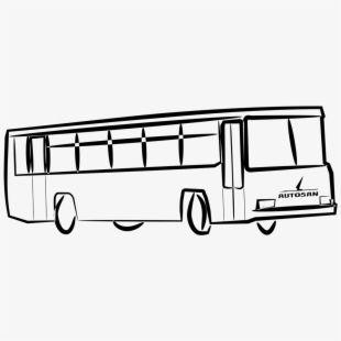 Transport Drawing Clip Art Bus Drawing Gambar