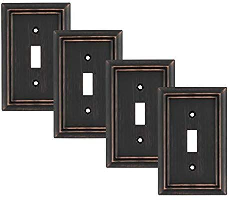 Pack Of 4 Wall Plate Outlet Switch Covers By Sleeklighting