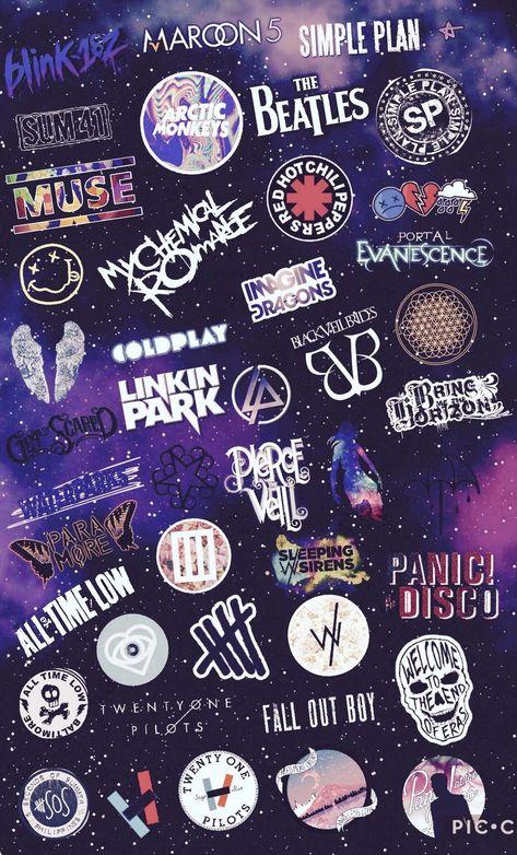 Res: 1240x2048, #music #collage #art #fanart #rock #alternative #bands #wallpaper