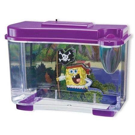 Pen Plax Spongebob Pirate Tank Aquarium Figure Pirate Tanks