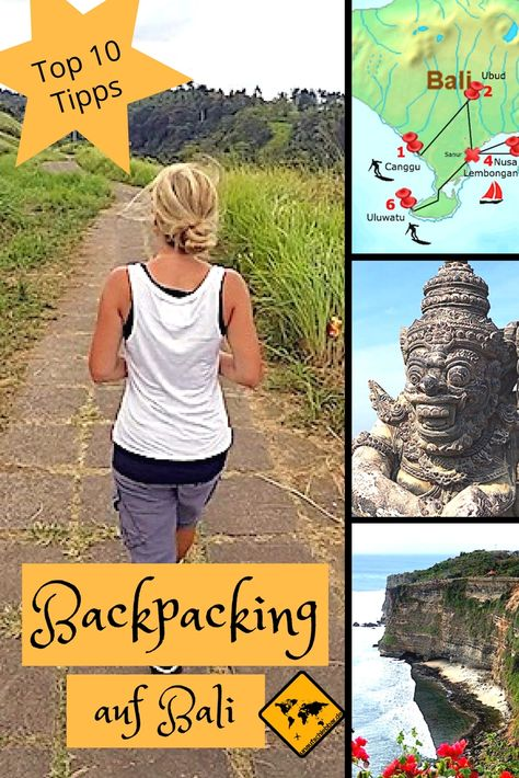 Wenn du einen Backpacking Trip nach Bali planst, solltest du dir unsere 10 Tipps auf jeden Fall vorher durchlesen. Denn damit sparst du viel Zeit und Geld! Zudem haben wir eine 2-wöchige Backpacking Route für dich erstellt. Klicke hierzu einfach aufs Bild. #Bali #Backpacking #BackpackingBali #Indonesien #Südostasien