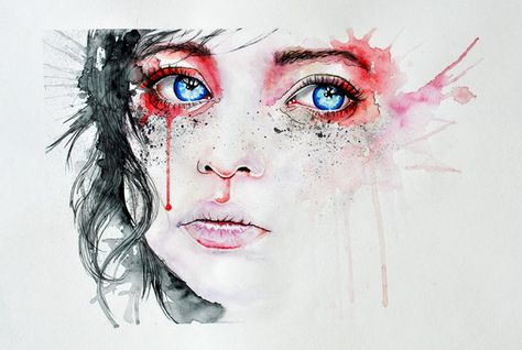 Dessin Et Peinture Video 693 Des Larmes De Sang Peinture