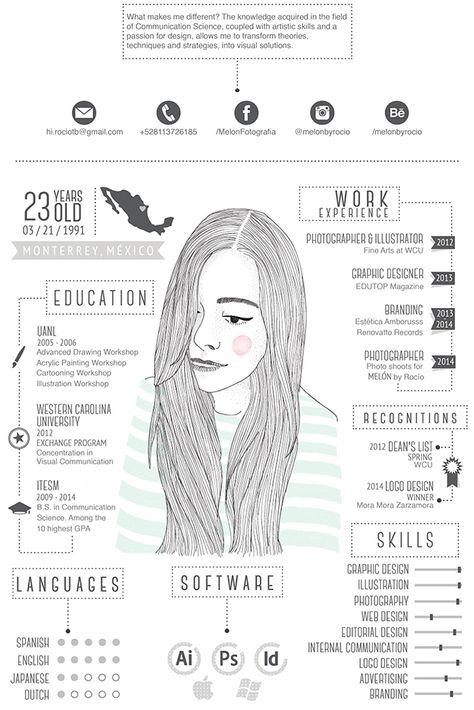 My CV/Resume  by Rocío Treviño, via Behance