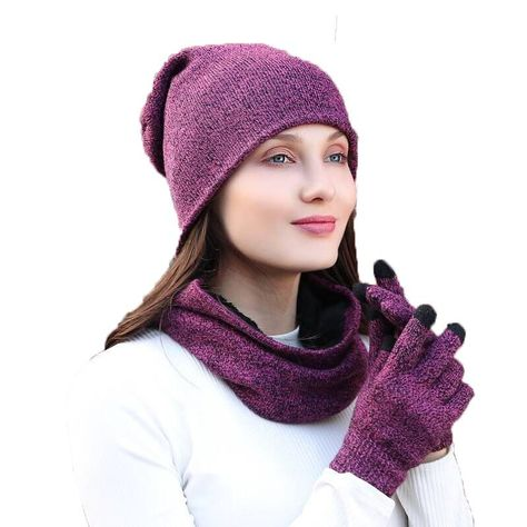 f1353cd36fe 3 Pcs Set Fashion Winter Hats Scarf Gloves For Women Men Thick Cotton Winter  Accessories Set Female Male Beanie Scarf Gloves. Yesterday s price  US   14.98 ...