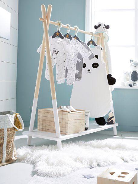 Portant à vêtements tipi - blanc | Teepee | Chambre bébé ...