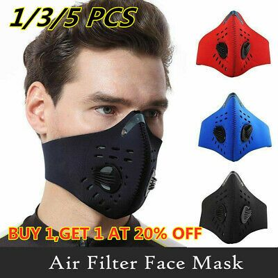 Cycling Anti Dust Half Face Mask With Filter Neoprene Reusable Motorcycle Lot Fashion Clothing Shoes Accessories Specialty In 2020 Half Face Mask Face Mask Mask