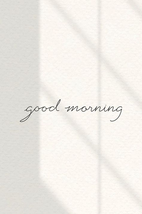 Stylish good morning word on beige background vector   premium image by rawpixel.com / nunny