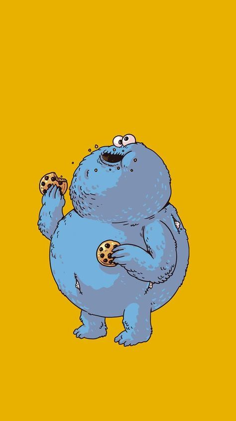 52+ Trendy Cookies Monster Wallpaper Tumblr Cookie monster wallpaper Wallpaper iphone cute Kaws wallpaper