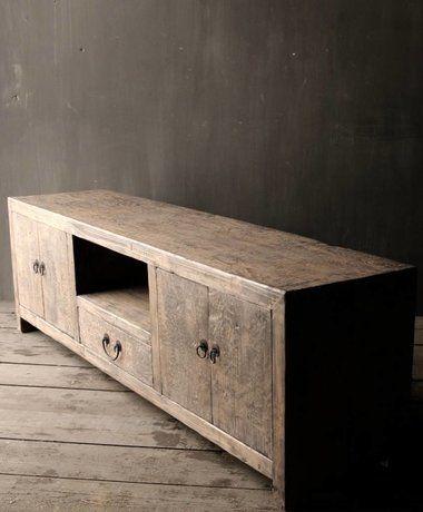Prachtige Tv Kast.Prachtig Stoer Elmwood Houten Dressoir Tv Kast Furniture Decor