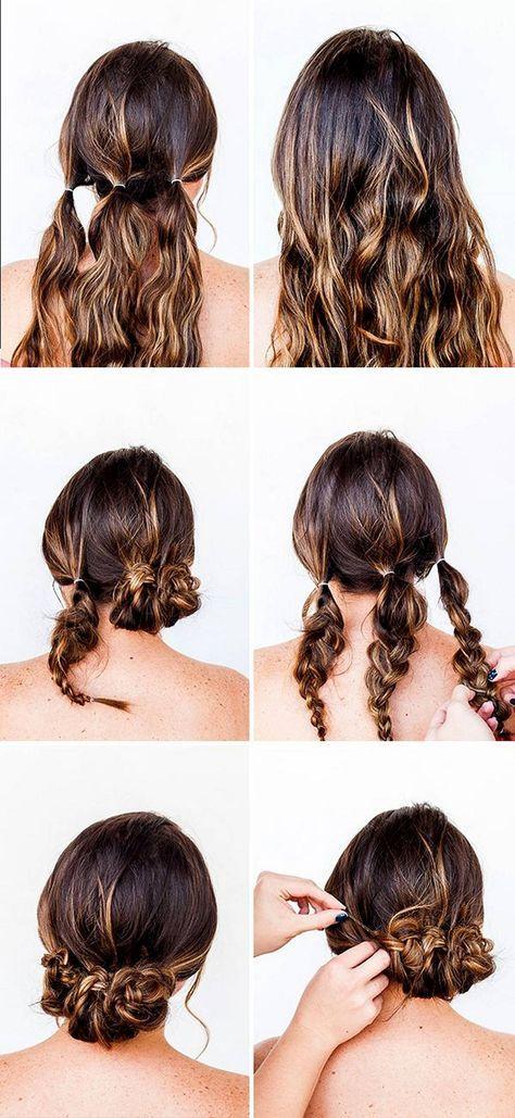 Https I Pinimg Com 474x 56 3b 3b 563b3b5a9f4436110ef0b33910c6f7c1 Hair Lengths Tutorial Jpg Hair Styles Easy Updos For Medium Hair Easy Hairstyles