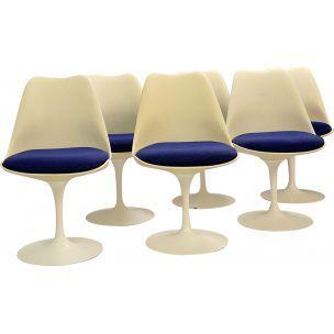 Ensemble De 6 Chaises Tulipe Vintage Par Eero Saarinen Pour Knoll International 1960 Design Market In 2020 Dining Chairs Market Design Furniture