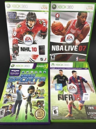 Xbox 360 Sports Game Lot Of 4 Bundle Fifa 15 Soccer Nhl 10 Nba Live 07 Kinect Ebay Nba Live Fifa 15 Sports Games