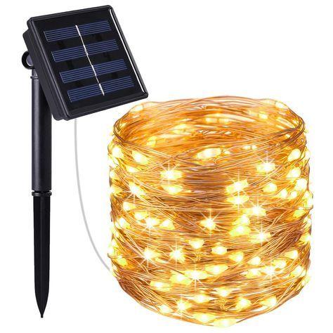 Amir Solar Lichterkette 33ft 100 Led Solar Lichterkette Weihnachten Solar Kupferdraht Lichterketten Garten A Mit Bildern Lichterkette Draussen Solarleuchten Lichterkette