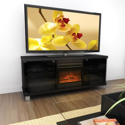 Dcor Design Holland 60 Tv Stand With Electric Fireplace Allmodern Electric Fireplace Tv Stand 60 Tv Stand Fireplace Tv Stand