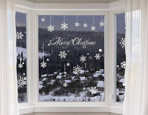 Heekpek Adesivi Fiocchi Neve Di Natale Fiocchi Di Neve