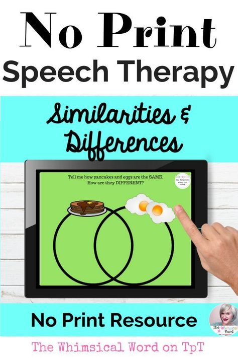 Similarities and Differences Activity NO PRINT Speech Therapy