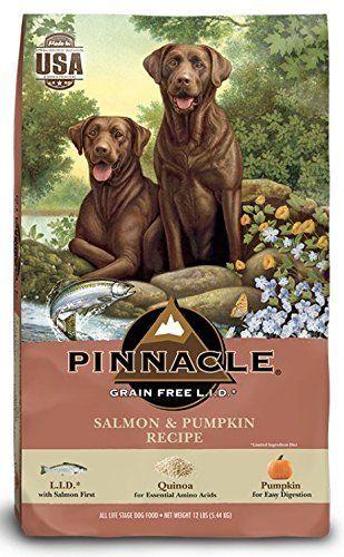 Buyitnow Pinnacle Grain Free Salmon Pumpkin Recipe Dry Dog Food