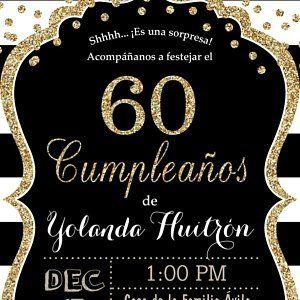 Sofia Huitron Invitaciones De Cumpleaños Cumpleaños 60 Y