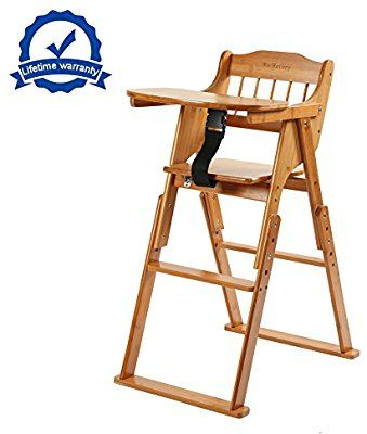 Groovy Amazon Com Wooden Folding Baby High Chair With Tray Beatyapartments Chair Design Images Beatyapartmentscom