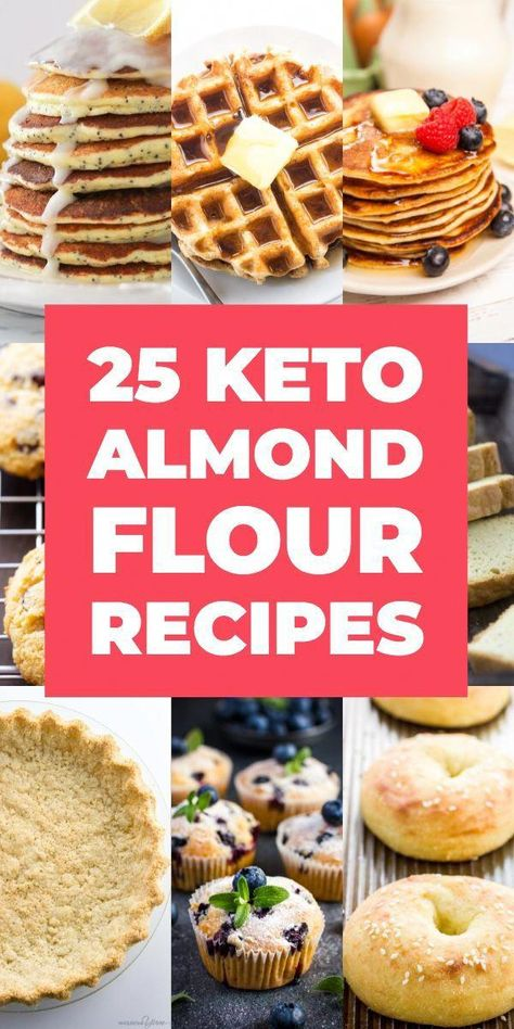 25 Mouth-Watering Keto Almond Flour Recipes. The best low carb desserts & breads you can bake on the ketogenic diet! Lose weight & indulge in baking your favorite cookies, muffins, bread, pancakes, pizza & pie with these keto almond flour recipes! These easy low carb desserts, breakfasts & dinners taste too good to be true! Don't miss these easy keto recipes - especially if you're a beginner! #keto #ketorecipes #ketodesserts #lowcarb #CarbDietRecipes