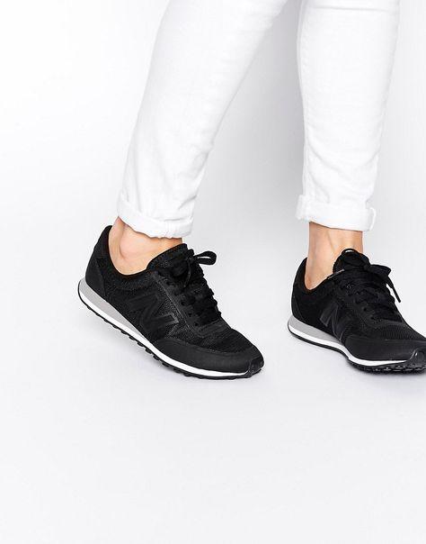 0fcaaf1b005 Zapatillas de deporte negras Sonic 410 de New Balance. Zapatillas de  deporte de New Balance Exterior de malla transpirable Paneles de efecto  ante Zapatilla ...
