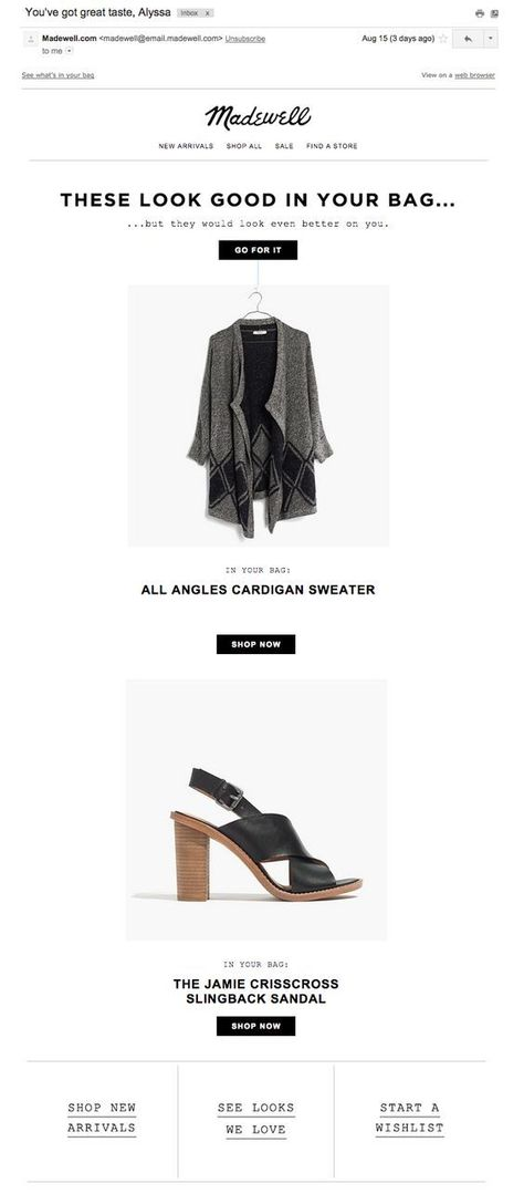 Get Inspired! 15 Abandoned Cart Email Designs You'll LOVE!