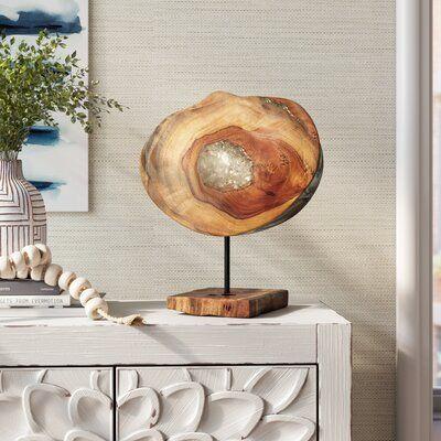 Dennison Wood Sculpture Agate Decor Decor Joss And Main