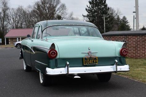 1956 Ford Customline Two Door Sedan In 2020 Sedan Ford Bermuda Blue