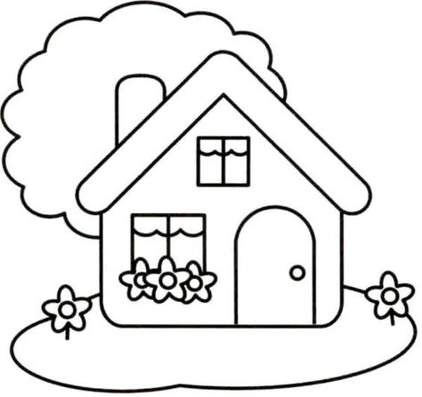 Kp Huisje Art Drawings For Kids House Drawing For Kids Easy Drawings For Kids