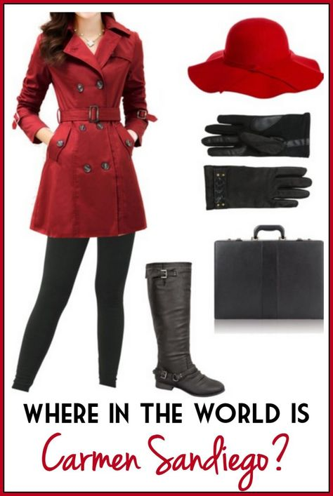 Where in the WOrld is Carmen San Diego Costume