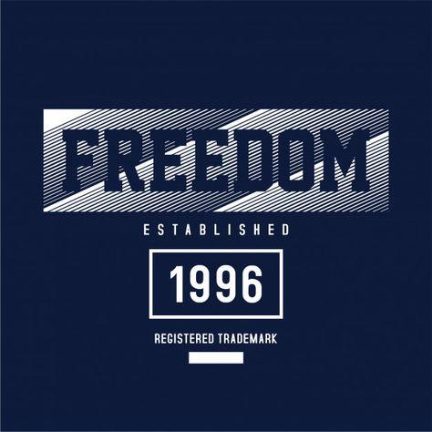 Freedom - graphic t-shirt Premium Vector