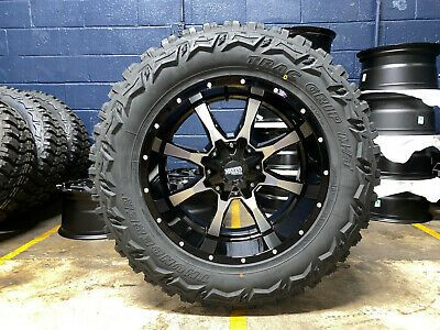 20x10 Black Moto Metal Mo970 35 Mt Wheels Rims Tires 6x5 5 Chevy