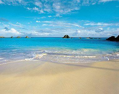 Bermuda's ocean and sand