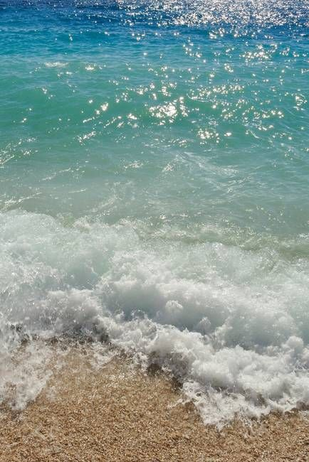 Waves on the beach. Podgora, Croatia by Creative Photography