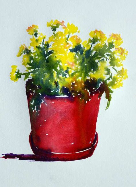 Watercolor Painting Chrysanthemums Chrysanthemum Painting