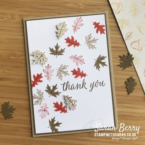 Fall Cards, Winter Cards, Paper Quilling Cards, Paper Crafts Magazine, Leaf Cards, Valentine Crafts For Kids, Stamping Up Cards, Thanksgiving Cards, Scrapbook Cards
