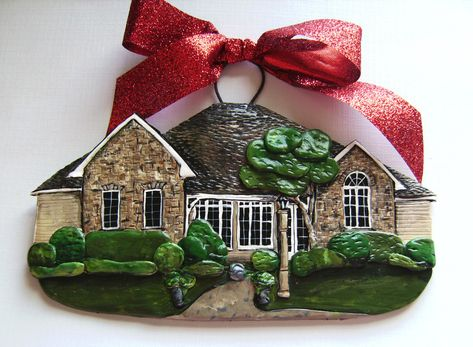 This is so cool! You can actually order an ornament made to look exactly like your house- great way to remember your first home
