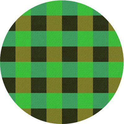 East Urban Home Wiest Gingham Wool Green Area Rug Rug Size Round 3 Area Rugs Rug Size Rugs