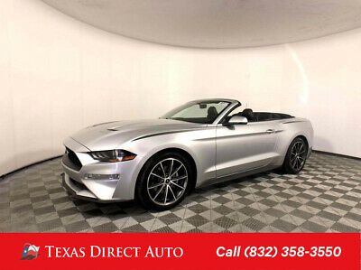 2018 Ford Mustang Ecoboost Premium Texas Direct Auto 2018 Ecoboost
