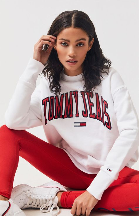 Tommy Jeans Classics Logo Pullover Hoodie from Pacsun on 21 Buttons