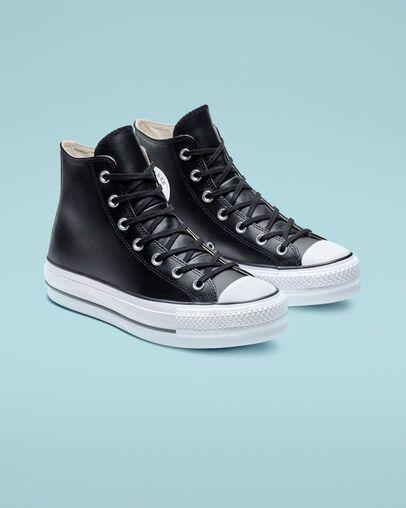 chuck taylor platform white leather