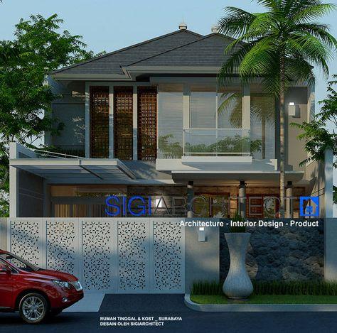 pengembangan rumah 2 lantai dengan merubah tampilan fasad