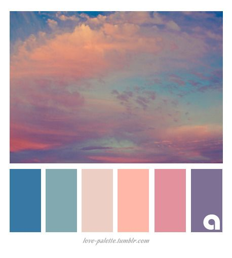 Palettes of life. Love of color. Hues of feelings. Colors are everywhere! I just… - Color Schemes Colour Palettes, Colour Pallette, Color Combos, Sunset Color Palette, Sunset Colors, Pastel Sunset, Paint Color Schemes, Color Balance, Color Harmony
